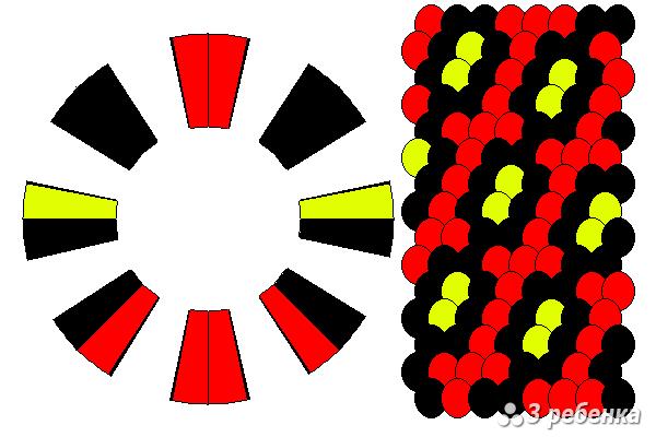 Схема фенечки кумихимо 18256