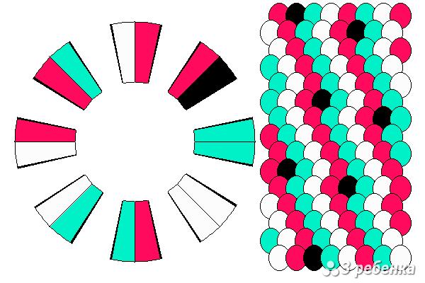 Схема фенечки кумихимо 18225