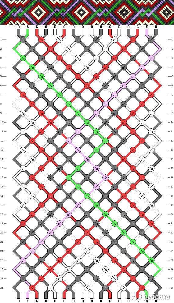 Схема фенечки 17038