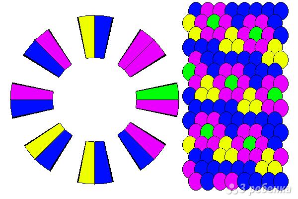 Схема фенечки кумихимо 15778