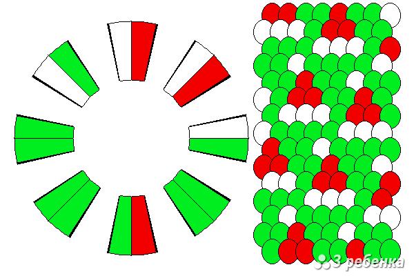 Схема фенечки кумихимо 18271