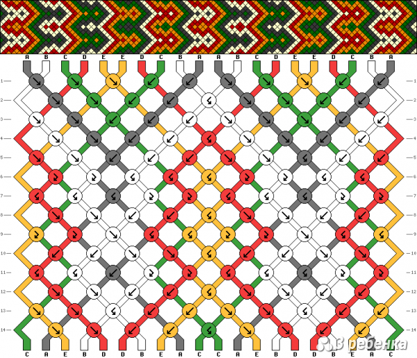 Схема фенечки 16934