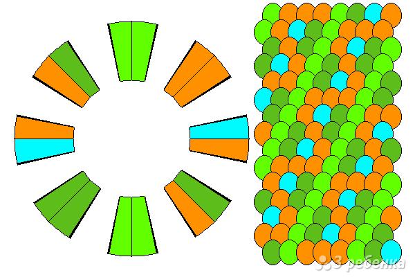 Схема фенечки кумихимо 15774