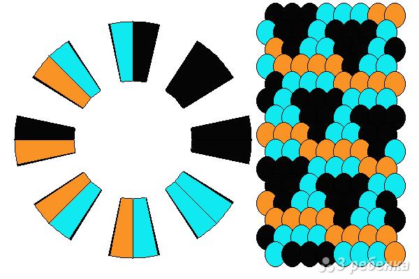 Схема фенечки кумихимо 15769