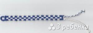 Схема фенечки прямым плетением 14998