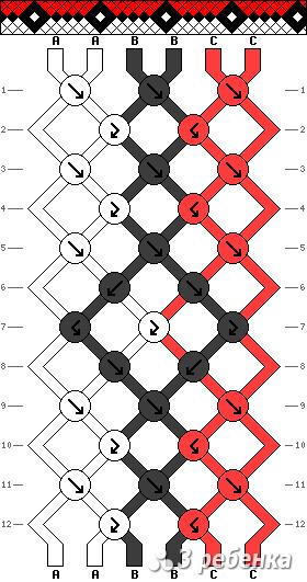 Схема фенечки 16878