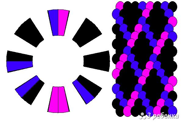 Схема фенечки кумихимо 18286