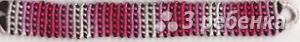 Схема фенечки прямым плетением 15011
