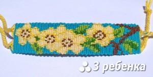Схема фенечки прямым плетением 17087