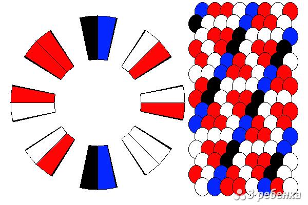 Схема фенечки кумихимо 18510