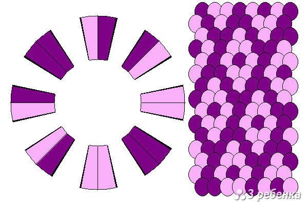 Схема фенечки кумихимо 18372