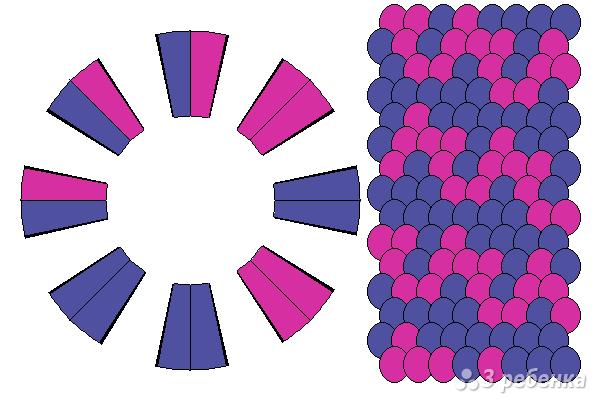 Схема фенечки кумихимо 15765