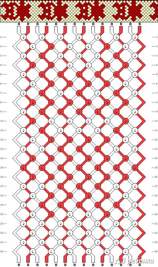 Схема фенечки 17106