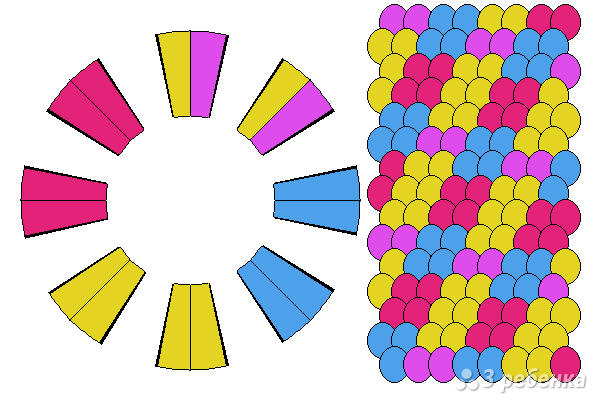 Схема фенечки кумихимо 15757
