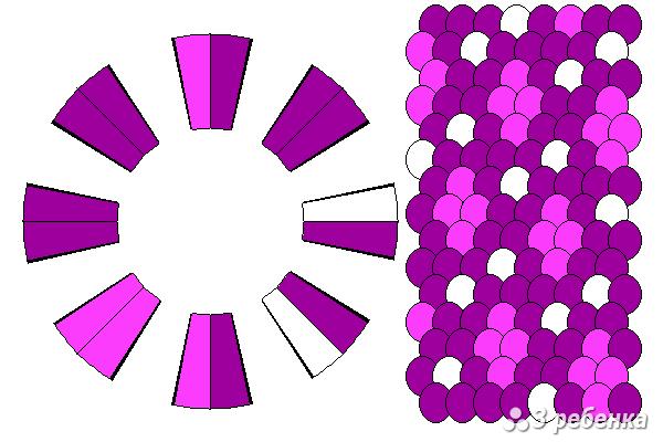 Схема фенечки кумихимо 18208