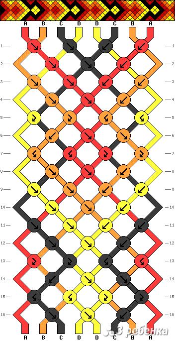 Схема фенечки 17005