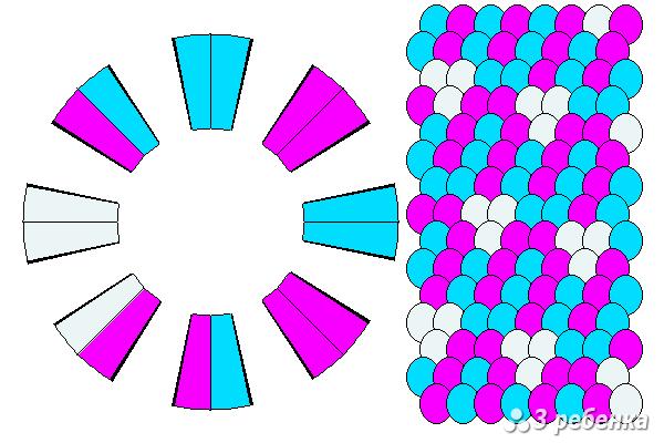 Схема фенечки кумихимо 18200