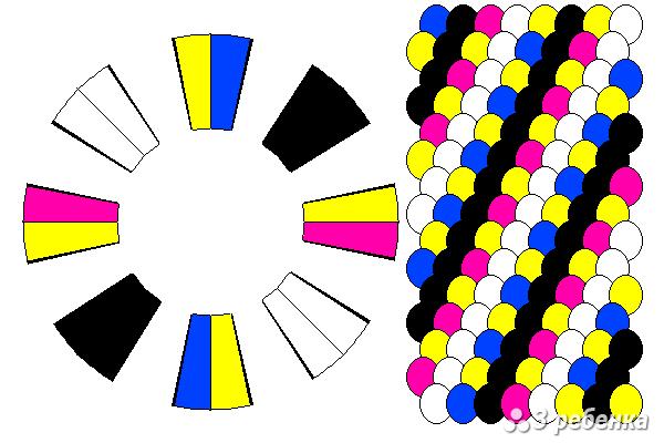 Схема фенечки кумихимо 18429