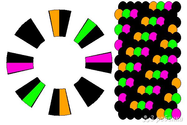 Схема фенечки кумихимо 15748