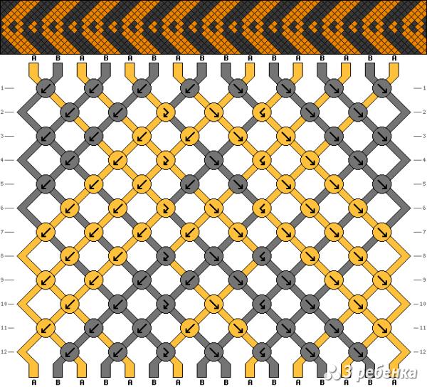 Схема фенечки 16826