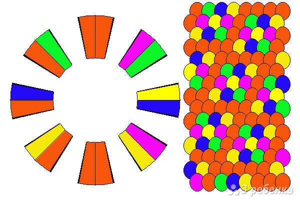 Схема фенечки кумихимо 15744