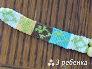 Схема фенечки прямым плетением 17336