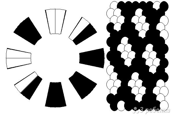 Схема фенечки кумихимо 15740
