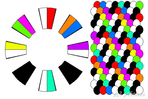 Схема фенечки кумихимо 15736