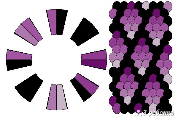 Схема фенечки кумихимо 18282