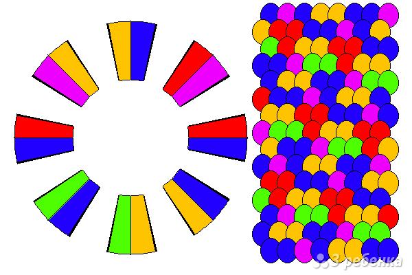 Схема фенечки кумихимо 15732
