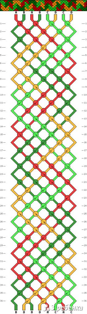 Схема фенечки 16816