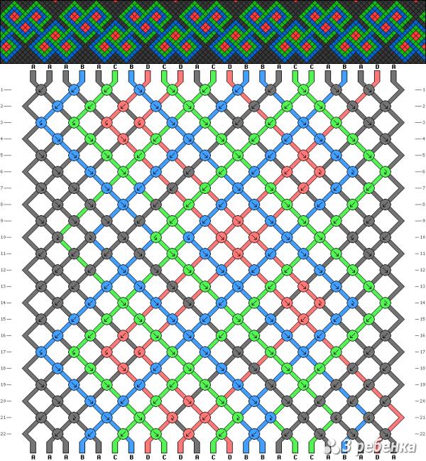 Схема фенечки 17180