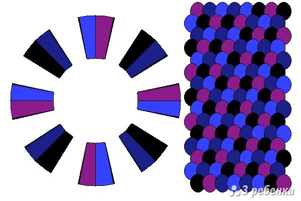 Схема фенечки кумихимо 18425