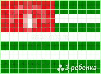 Схема фенечки прямым плетением Абхазия