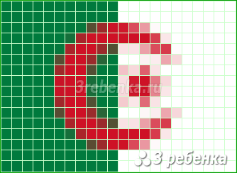 Схема фенечки прямым плетением Алжир