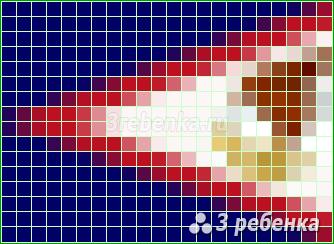 Схема фенечки прямым плетением Американское Самоа