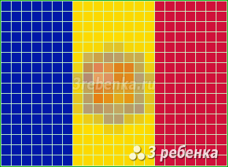 Схема фенечки прямым плетением Андорра