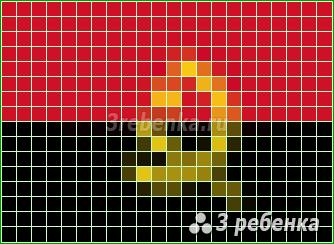 Схема фенечки прямым плетением Ангола
