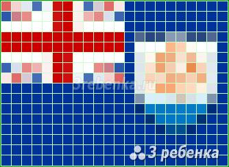 Схема фенечки прямым плетением Ангилья