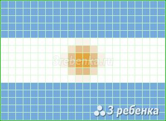 Схема фенечки прямым плетением Аргентина