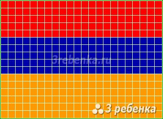 Схема фенечки прямым плетением Армения