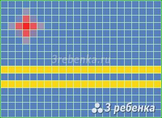 Схема фенечки прямым плетением Аруба