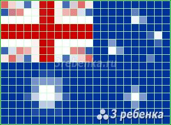 Схема фенечки прямым плетением Австралия