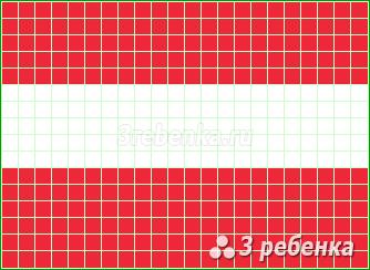 Схема фенечки прямым плетением Австрия