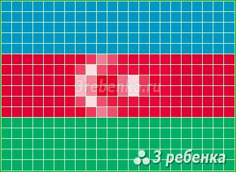 Схема фенечки прямым плетением Азербайджан