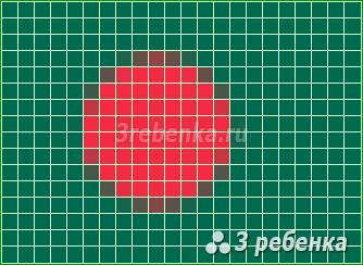 Схема фенечки прямым плетением Бангладеш
