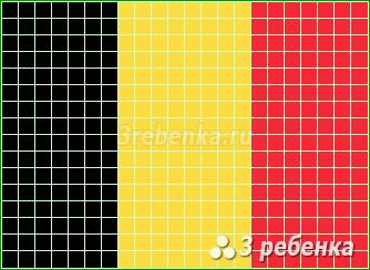 Схема фенечки прямым плетением Бельгия