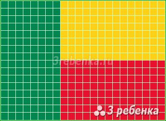 Схема фенечки прямым плетением Бенин
