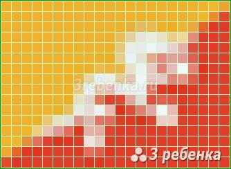 Схема фенечки прямым плетением Бутан