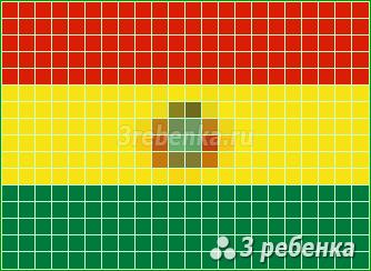 Схема фенечки прямым плетением Боливия
